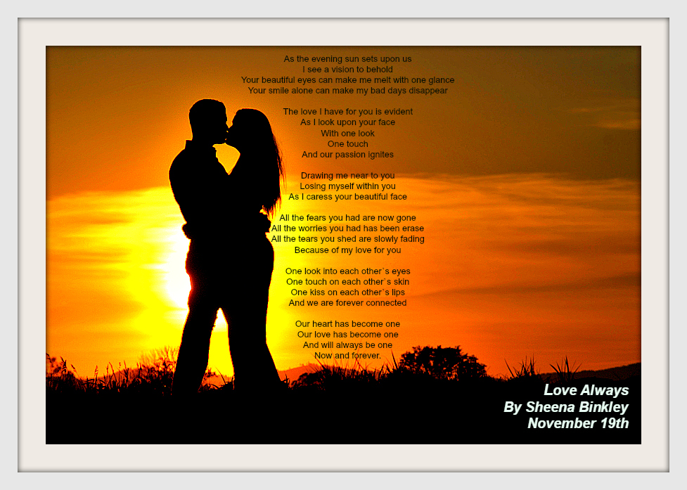 Couple in love, enjoying in nature at the sunset (sunrise)